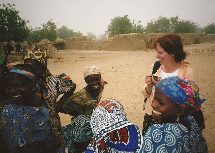 Mary Peterson on video shoot in Niger for World Vision